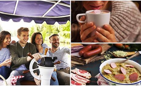 Social Deal: Vaartocht (2 uur) + onbeperkt koffie/thee + soep