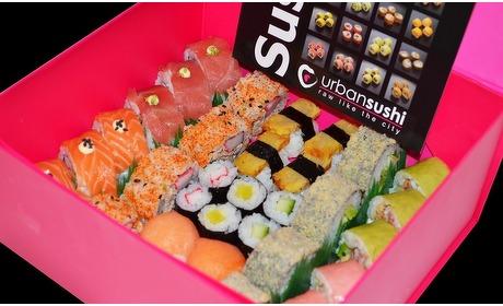 Groupon: Afhalen: Urban Sushi-box 34 stuks