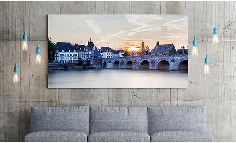 Social Deal: Canvasdoek met foto van Maastricht naar keuze