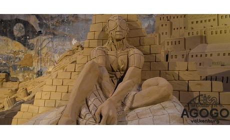 Wowdeal: Gezinskaart Zandsculpturen Hollywood met kabelbaan retour