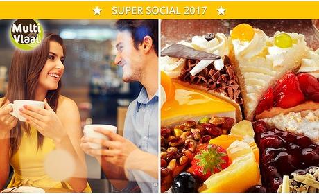 Social Deal: Stuk vlaai + koffie bij MultiVlaai