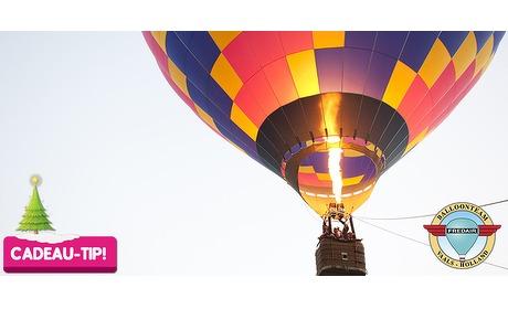 Wowdeal: VIP Ballonvaart + lunch boven Drielandenregio in Zuid-Limburg