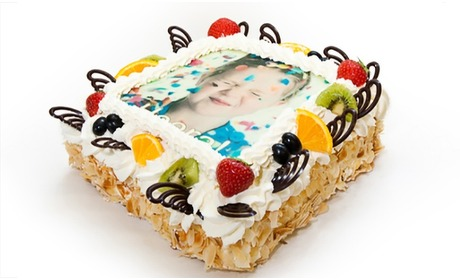Groupon: Gepersonaliseerde foto-taart