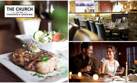 Social Deal: 3- of 4-gangen keuzediner bij Steakhouse the Church
