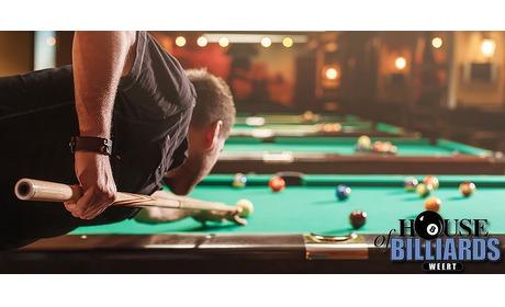 Wowdeal: Poolbiljarten inclusief snacks bij House Of Billiards Weert