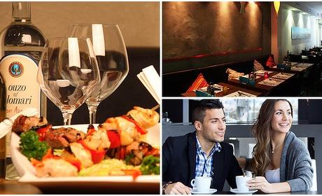 Social Deal: 2-gangen keuzediner bij Mythos Grieks restaurant