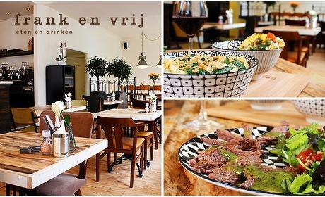Social Deal: Dinerbon voor lunch of diner bij Frank en Vrij