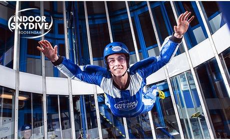 Social Deal: 2, 3 of 5 sessies indoor skydiving