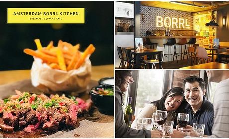 Social Deal: 3-gangen keuzediner bij Borrl Kitchen