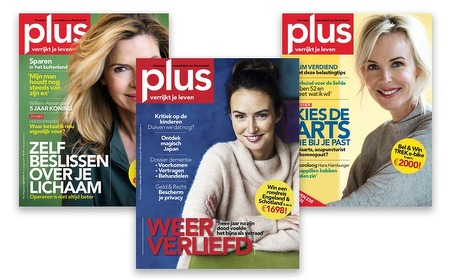 Groupon: 6 of 11 nummers Plus Magazine