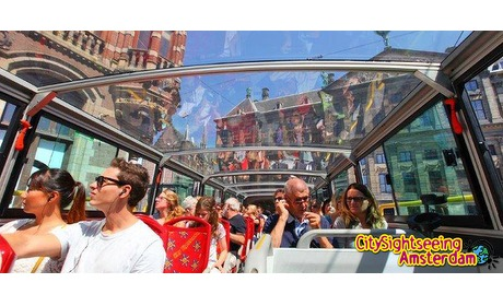 Wowdeal: Hop-on Hop-off bus- of boottour door Amsterdam