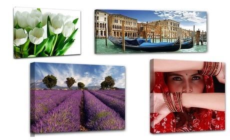 Groupon: Diverse foto's op canvas