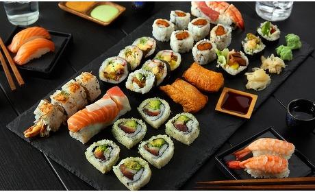 Groupon: Onbeperkt sushi & grill (2 p.)
