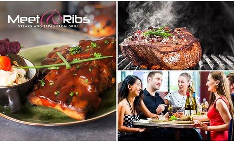Social Deal: Steak of spareribs + drankje naar keuze bij Meet & Ribs
