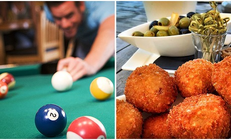 Social Deal: Poolen + bitterballen + 4 drankjes bij House of Billiards