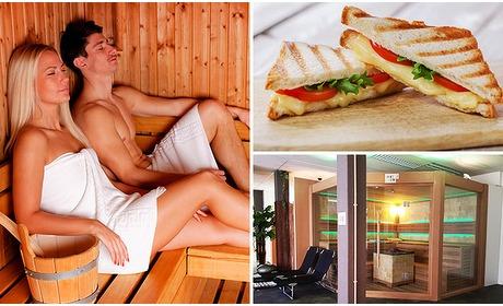 Social Deal: Entree voor sauna + eventueel 2-gangenlunch