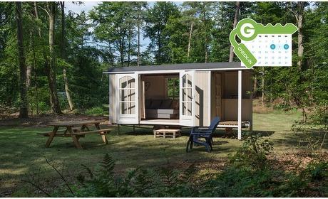 Groupon: Drenthe: Quirky-tiny-house of kampeerplek