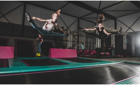 Groupon: Springen in een jumphal