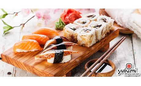 Wowdeal: All-You-Can-Eat sushilunch (3 uur) bij Yukimi Tegelen