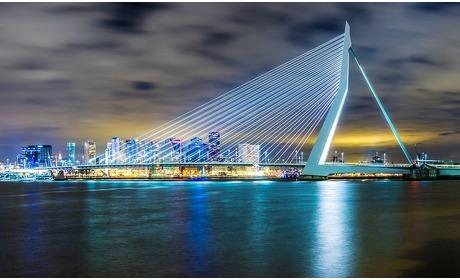 Groupon: Rotterdam: classic kamer in hotel bij de Erasmusbrug