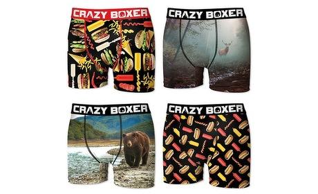 Groupon: Set van 4 boxers van Crazy Boxer