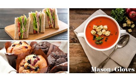 Wowdeal: 2-gangen lunchplank bij Mason & Gloves