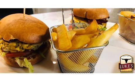Wowdeal: Burger met friet en evt. dessert Luke's Steaks & More