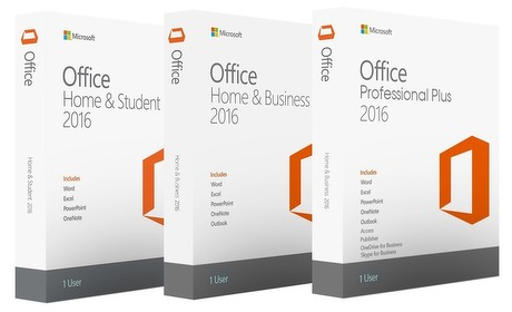 Groupon: Office 2016 voor Windows