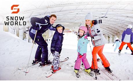 Social Deal: 1 of 2 uur lang skien bij SnowWorld Amsterdam