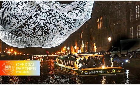 Social Deal: Rondvaart + drankjes tijdens Amsterdam Light Festival