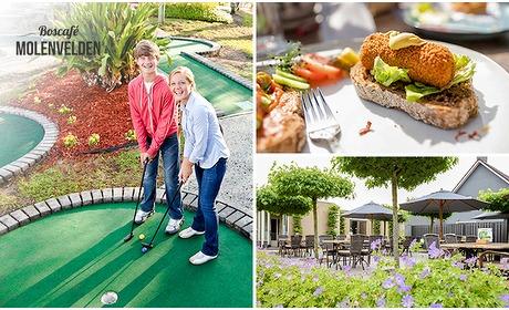 Social Deal: 18 holes midgetgolf + lunch bij Boscafe Molenvelden