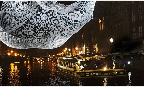 Groupon: Amsterdam Light Festival-cruise