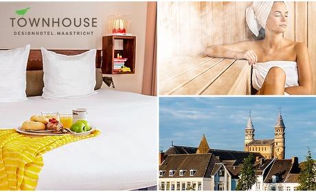 Social Deal: Overnachting + ontbijt + wellness voor 2 in Maastricht