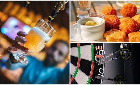 Social Deal: Darten + 2x bier/wijn + bittergarnituur in hartje Arnhem