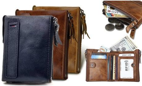 Groupon: Leren RFID-portemonnee