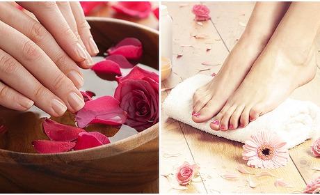 Social Deal: Gellak + mini-manicure- of pedicurebehandeling