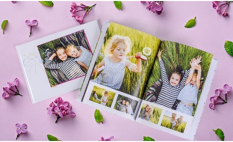 Groupon: A4-fotoboek met max. 140 pagina's
