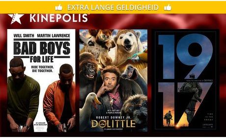 Social Deal: Bioscoopkaartje voor Kinepolis