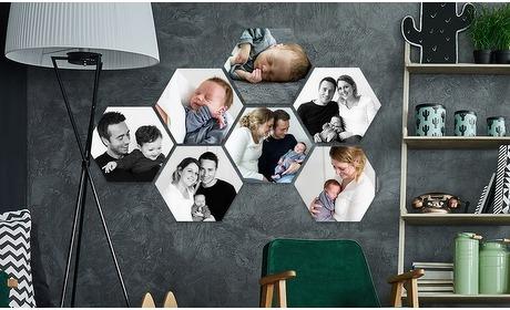 Groupon: Jouw foto's op hexagon
