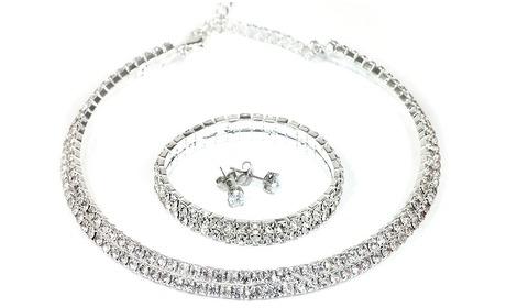 Groupon: Sieradenset gemaakt met Swarovski-kristallen