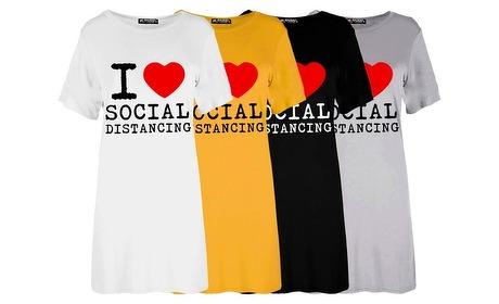 Groupon: T-shirtjurk van Oops met tekst