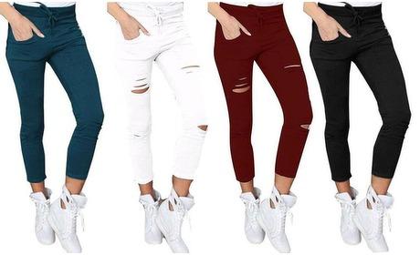 Groupon: Skinny broek met hoge taille