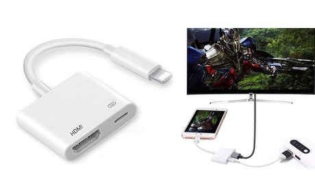 Groupon: HDMI naar iPhone-adapter