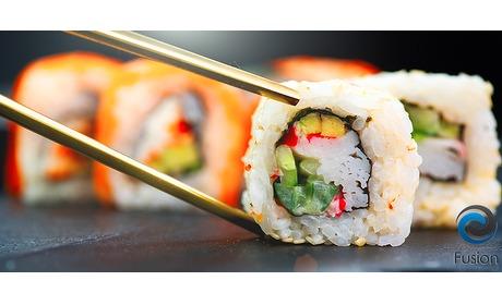 Wowdeal: Sushi lunchplank met wakame salade bij Fusion Helden