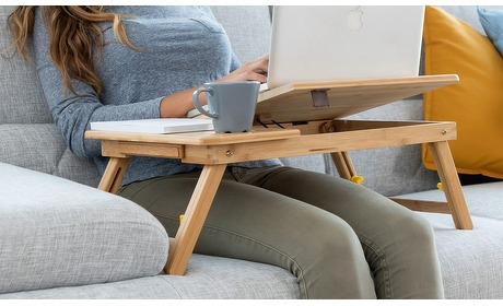 Actievandedag.nl: Bamboe opklapbare laptoptafel