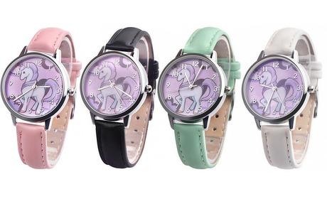 Groupon: Eenhoorn quartz-horloge
