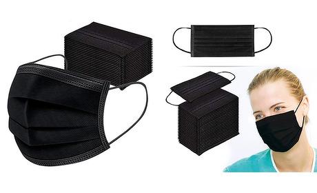 Wowdeal: Mondkapjes 3 laags 50-pack zwart