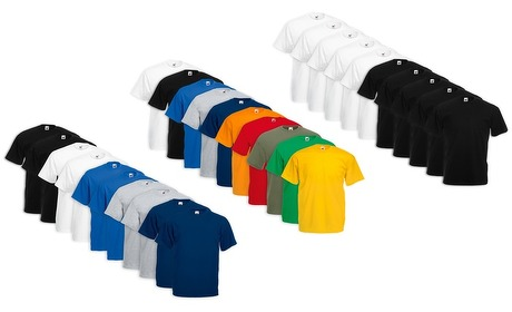 Groupon: 10 Fruit of The Loom t-shirts