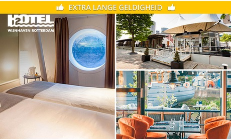 Social Deal: Overnachting + ontbijt + late check-out bij H2OTEL