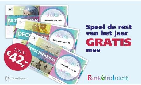 Groupon: BankGiro Loterij: 3 gratis loten